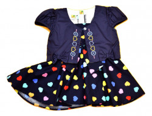 Rochie fete cu inimioare colorate