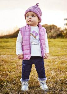 Set 3 piese leggings pentru bebe fată, Mayoral
