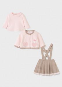 Set cu fustă tricot pentru bebe fetiță, Mayoral