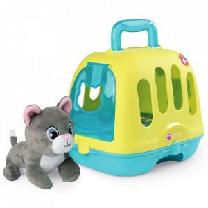 Set Smoby Veterinary Case pisica cu cusca de transport si accesorii