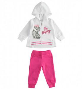 Trening alb cu roz pentru fete, iDO