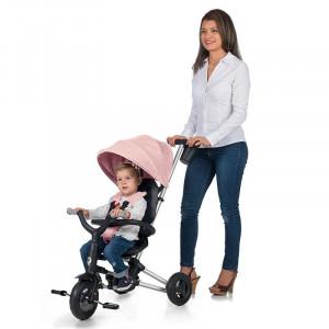 Tricicleta ultrapliabila Qplay Nova Roz