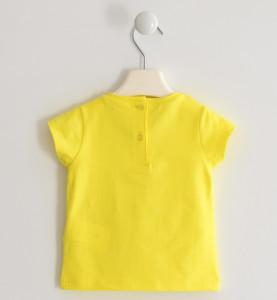Tricou copii fete, galben, paiete,Ido