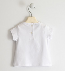 Tricou fete Sarabanda, alb cu model