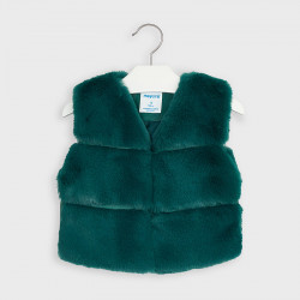 Vesta de blanita verde scurta