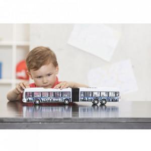 Autobuz Dickie Toys City Express Bus alb