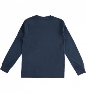 Bluza cu maneca lunga baieti IDO bumbac bleumarin