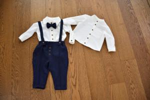 Costum cu pantalon din in bleomarin 4 piese