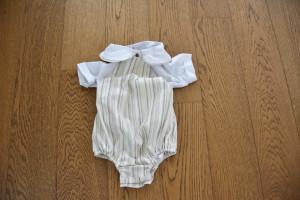 Costum cu salopeta si camasa