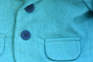 Costum de botez cu sacou bleo in 5 piese de baiat