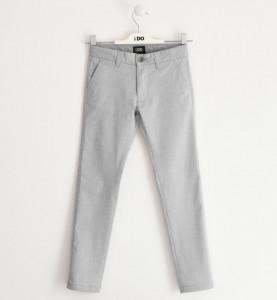 Pantalon gri lung și elegant băiat, Ido