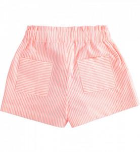 Pantalon scurt cu dungi portocalii de fete IDO