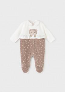 Pijama cu ursuleț, pentru nou-născut fetiță, Mayoral
