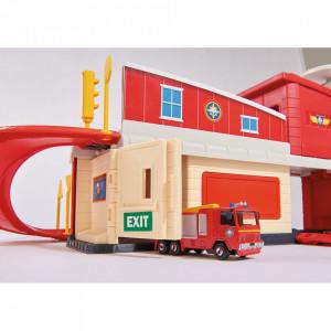 Pista de masini Dickie Toys Fireman Sam Fire Rescue Center cu elicopter si accesorii