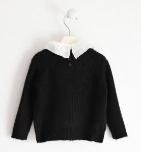 Pulovar tricotat negru IDO elegant
