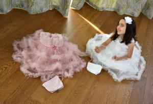 Rochie elegantă scurtă pentru fete pentru ceremonie și nuntă