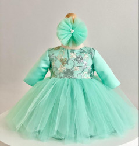 Rochiță de botez verde, Olivia