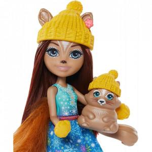 Set Enchantimals by Mattel papusa Sharlotte Squirrel, figurina Peanut si accesorii
