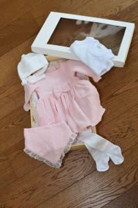Set pentru scos din maternitate, trusou de socos din maternitate fata