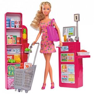 Set Simba Steffi Love Supermarket cu papușă 29 cm și accesorii