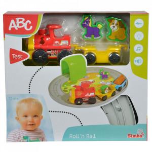 Set Simba Tren ABC Roll'n Rail cu sina circulara si accesorii
