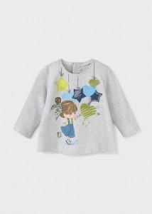 Tricou cu mânecă lungă pentru fetițe de la 6 la 36 luni, Mayoral