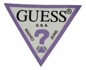 Tricou Guess logo cu mov