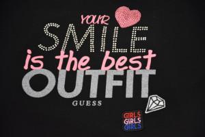 Tricou Guess, negru, smile