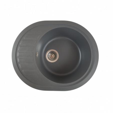 Chiuveta ovala bucatarie granit, MIXXUS HB8311-G228 GRI