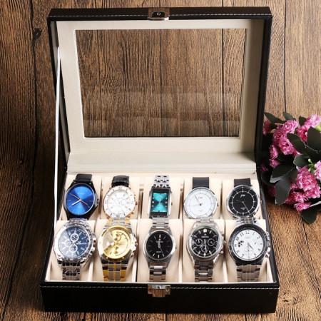 Cutie pentru 10 ceasuri piele ecologica