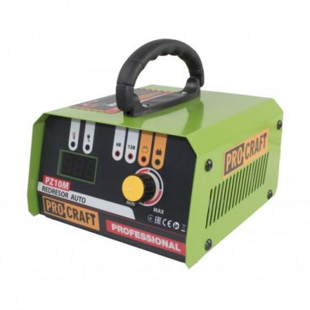 Redresor auto Profesional 6-12 V, PROCRAFT PZ10M, curent de incarcare 10 A, 165 W