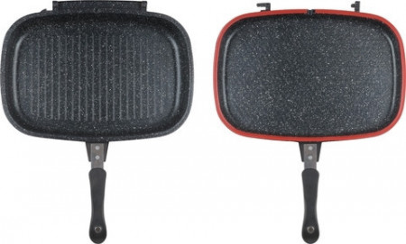 Tigaie dubla grill din aluminiu Heinner 36x24.6x7.5 cm