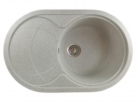 Chiuveta ovala bucatarie granit, MIXXUS HB8310-G319 NISIP