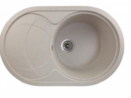 Chiuveta ovala bucatarie granit, MIXXUS HB8310-G322 BEJ