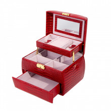 Caseta moderna pentru bijuterii cu trei niveluri