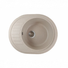 Chiuveta ovala bucatarie granit, MIXXUS HB8311-G322 BEJ