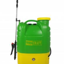 Pompa de stropit electrica PROCRAFT AS16L, Volum 16l, 12V/8Ah, 3 tipuri de pulverizare