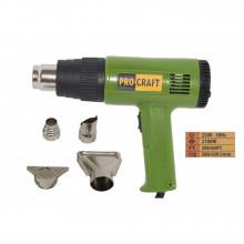 PH2100 heat gun PROCRAFT, produsul contine taxa timbru verde 2,5 Ron, 0.85 kg