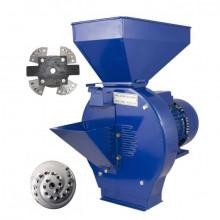 Moara cereale Temp 2 + Razatoare fructe, Uruitor electric 2.5 kW, 2800 rpm