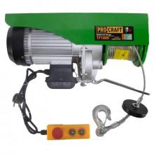Troliu electric palan Procraft TP1000, 1600W, cu kit montare Greutate 1000kg