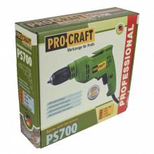 Bormasina Procraft PS700, 700 W, 3300 rpm, mandrina 10 mm cu Variator