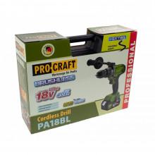 Autofiletanta Procraft PA18BL, 18V, 2 acumulatori, fara carbuni