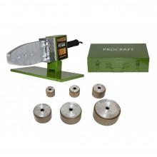 Plita PPR Procraft PL1600, 1.6 kW, bacuri 20 25 32 40 50 63 mm, ciocan de lipit tevi PPR