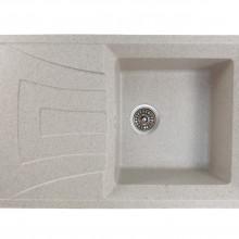 Chiuveta bucatarie dreptunghiulara din granit, MIXXUS HB8104-G319 NISIP