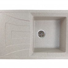 MIXXUS HB8104-G319 NISIP, chiuveta bucatarie dreptunghiulara din granit