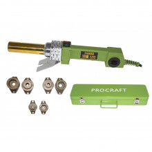 Plita de lipit PPR Procraft PL2000, 2 kW, bacuri 20 25 32 mm, 300 grade, ciocan PPR