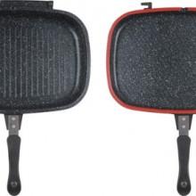 Tigaie dubla grill din aluminiu Heinner 32x24.6x7.5 cm