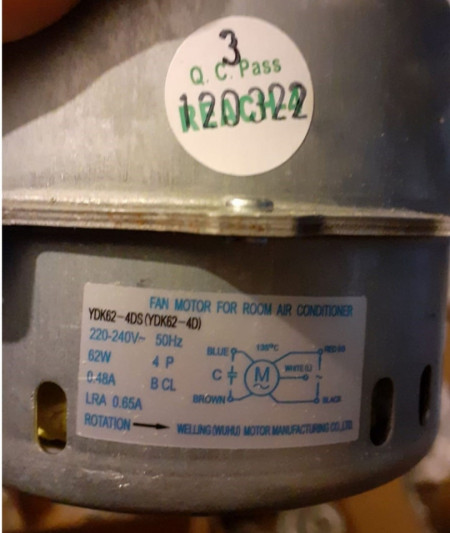 Motor ventilator extern aer conditionat 62W