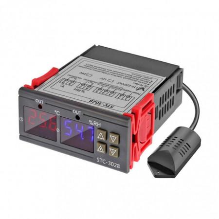 Controler de temperatura,umiditate, dublu, 220V/10A - STC-3028