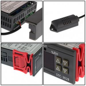 Controler de temperatura si umiditate, dublu, 220V/10A - STC-3028